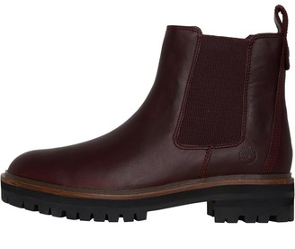 Timberland Womens London Square Chelsea Boots Dark Port