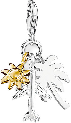 Thomas Sabo Women's Gold Summer Fun 18ct Gold-Plated And Sterling Silver Charm