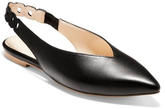 Cole Haan Merrit Leather Slingback Flat
