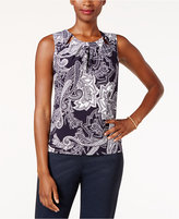 Tommy Hilfiger Printed Pleat-Neck Shell