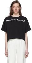 MM6 MAISON MARGIELA Black Wide Cropped T-Shirt