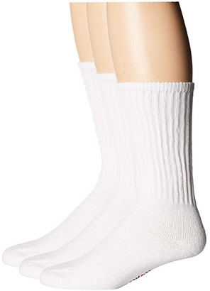 Wigwam Volley 3-Pair Pack (White) Crew Cut Socks Shoes