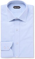 Tom Ford - Blue Slim-fit Cotton-poplin Shirt