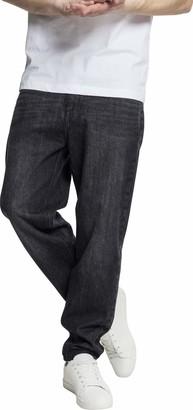 Urban Classics Men's Denim Baggy Pants Loose Fit Jeans
