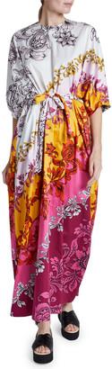 Erdem Rivera Dolman Puff-Sleeve Dress