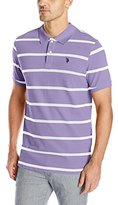 U.S. Polo Assn. Men's Stripe Pique Polo Shirt