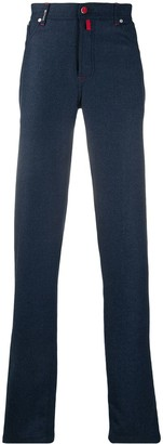Kiton Mid-Rise Straight Leg Trousers