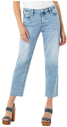 Liverpool Crop Straight w/ Fray Hem in Dixie (Dixie) Women's Jeans
