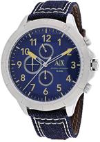 Armani Exchange Chronograph Collection AX1756 Men's Blue Denim Watch
