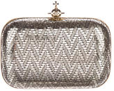 Vivienne Westwood Metallic Embossed Leather Clutch
