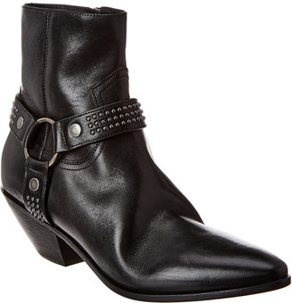 Saint Laurent West Harness 45 Studded Leather Ankle Boot