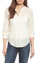 Lucky Brand Women's Clip Dot Blouse