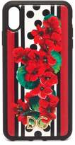 Dolce & Gabbana Geranium Dauphine-leather Iphone Xs Max Cover - Womens - Red Multi