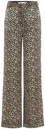 Victoria Victoria Beckham Printed silk wide-leg trousers