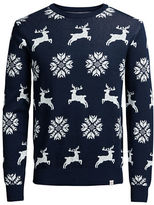 Jack and Jones Crewneck Printed Pullover