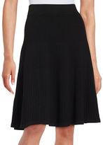 Ivanka Trump Ribbed A-Line Skirt