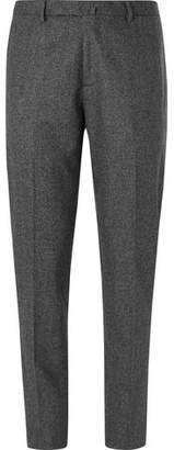 Boglioli Dark-Grey Melange Virgin Wool Suit Trousers