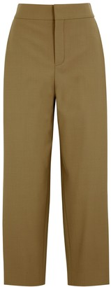 Chloé Camel straight-leg twill trousers