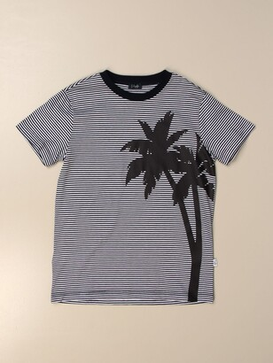 Il Gufo T-shirt In Cotton With Palm Print