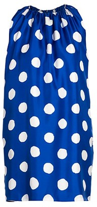 Moschino Polka Dot Silk Shift Dress