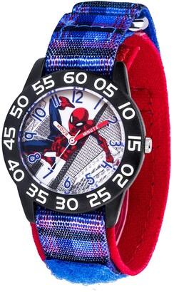EWatchFactory Marvel Spider-Man Boys' Black Plastic Watch 32mm
