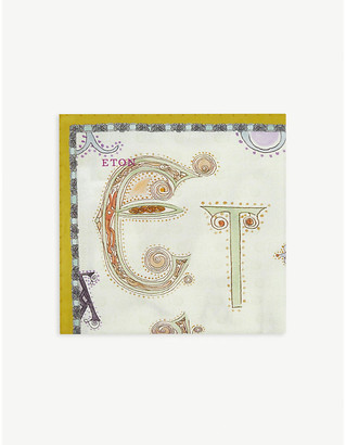 Eton Graphic-print cotton pocket square