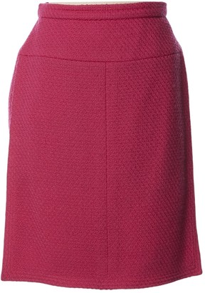 Chanel Pink Wool Skirts