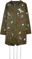 Mira Mikati Embroidered Icon Parka Khaki