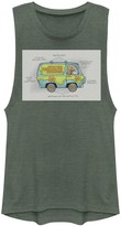 Scooby-Doo Licensed Character Juniors' Mystery Machine Schematic Muscle Graphic Tee