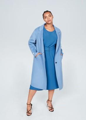 MANGO Violeta BY Belt midi dress blue - 10 - Plus sizes