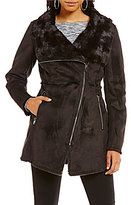 Jessica Simpson Asymmetrical Faux Shearling Coat