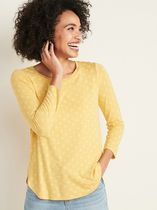 Old Navy Luxe Floral Crew-Neck Tee for Women