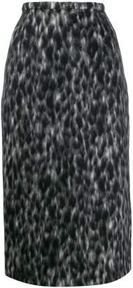 Rochas animal print skirt