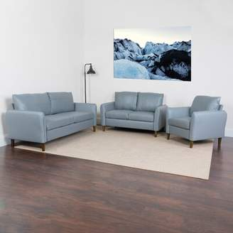 O'Neill Williston Forge Upholstered 3 Piece Living Room Set Williston Forge Upholstery Color: Gray