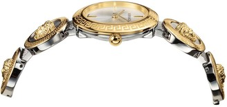 Versace Gold 28mm Dial Two Tone Medusa Stud Icon Stainless Steel Bracelet Ladies Watch
