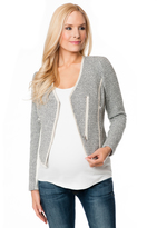 A Pea in the Pod Zip Front Tweed Maternity Jacket