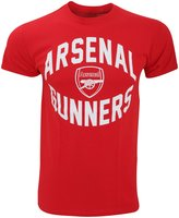 Arsenal FC Official Mens Short Sleeve Gunners Football Crest T-Shirt