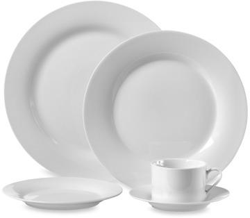 Bed Bath & Beyond Round White Porcelain 45-Piece Dinnerware Set