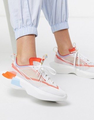Nike Vista Lite sneakers in white red and blue