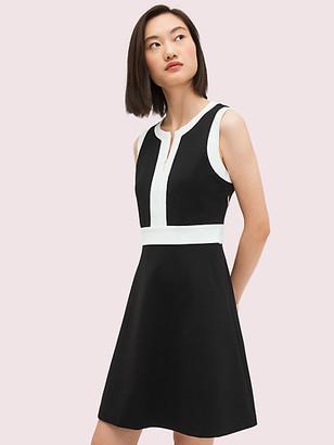 Kate Spade Contrast Panel Ponte Dress