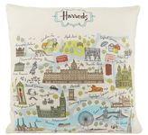Harrods London Map Cushion