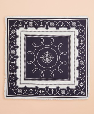 Brooks Brothers Nautical-Print Silk Square Scarf