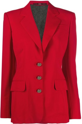 Gianfranco Ferré Pre-Owned 1990s Buttoned Slim-Fit Jacket