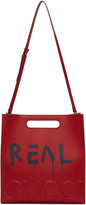 Gucci Red real Guccighost Tote