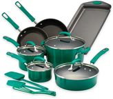 Rachael Ray Rachael RayTM Porcelain Nonstick 14-Piece Cookware Set in Fennel
