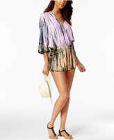 Raviya Ombré Tie-Dyed Romper Cover-Up