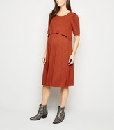 New Look Maternity Short Sleeve Midi Nursing Dress