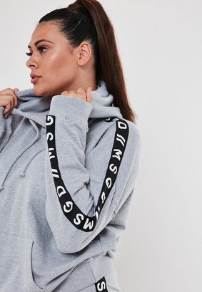 Missguided Plus Size Active Gray Co Ord Msgd Lounge Hoodie