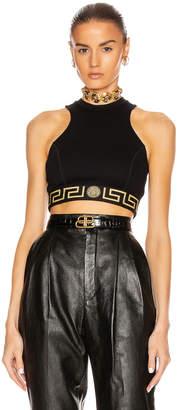 Versace Sport Bra Top in Black | FWRD
