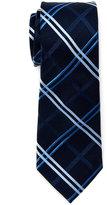 Pierre Cardin Large Grid Slim Silk Tie